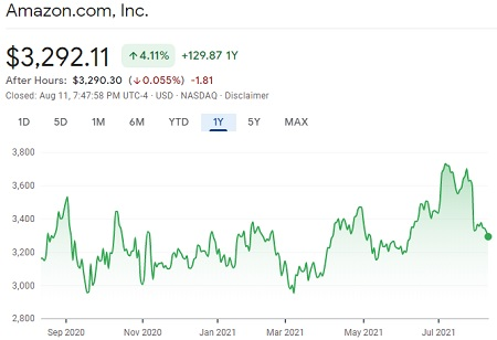Investing With Synthetic Stock - Amazon 1 Year